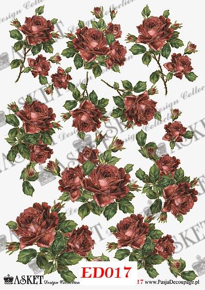 pąsowe róże do handmade