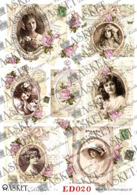 decoupage stare pocztówki