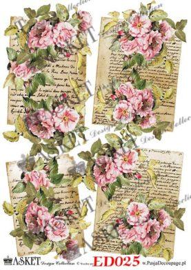 listy i róże