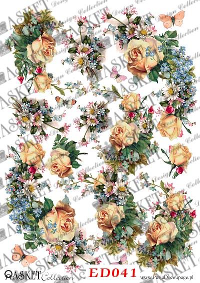 kwiaty łąkowe decoupage