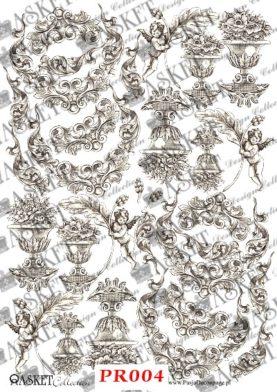 wazy i anioły oraz fantazyjne ornamenty
