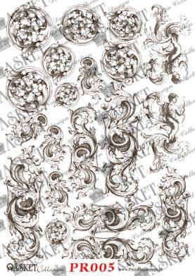 ornamenty okrągłe i podłużne zawijane