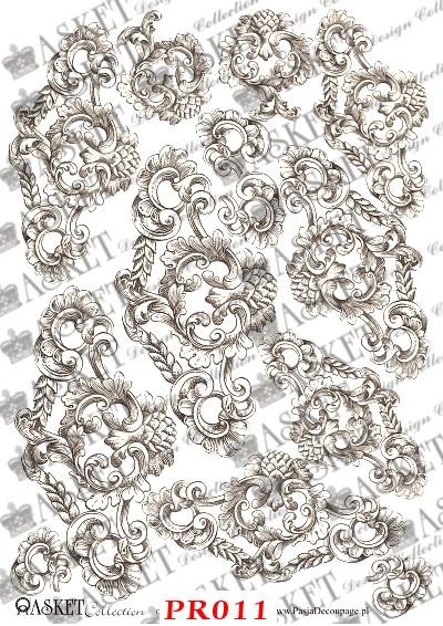 piękne wzory kopii starych rycin
