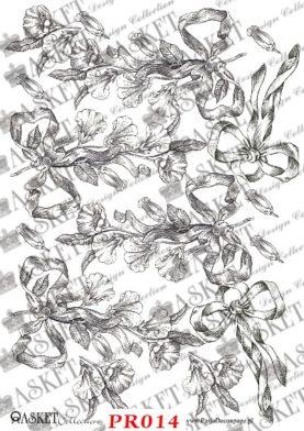 Piękne wzory wiszących kwiatów z kokardami