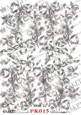 małe wzory pięknych kwiatów z kokardami
