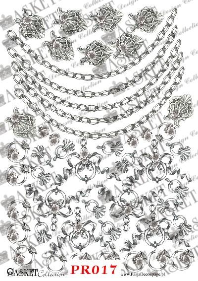 łańcuchy oraz dekoracyjne kokardy