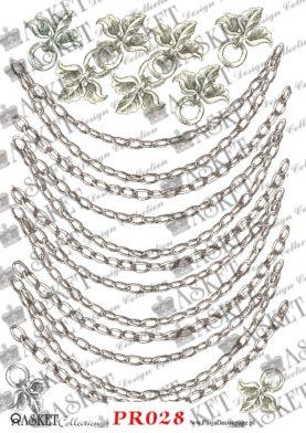 proste wzory łańcuchów do dekorowania