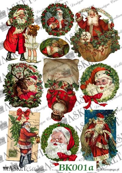Radosne motywy ze Świętym Mikołajem i dziećmi