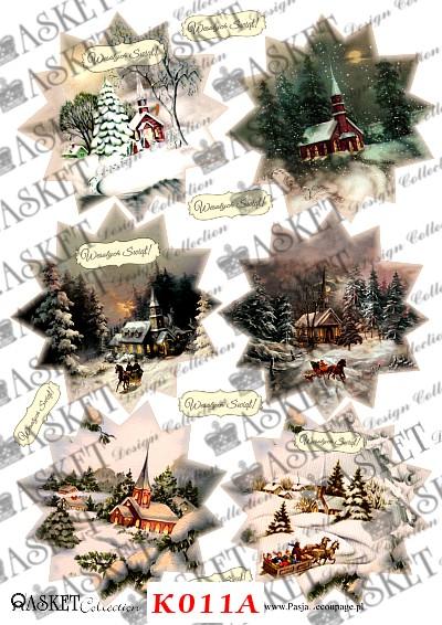 widoki świąteczne w gwiazdach