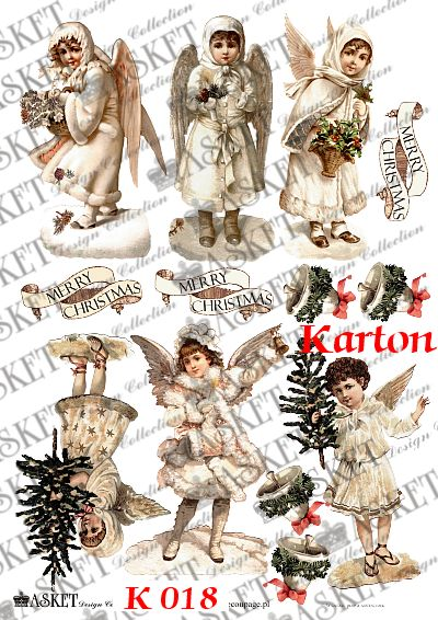 Aniołki z choinkami