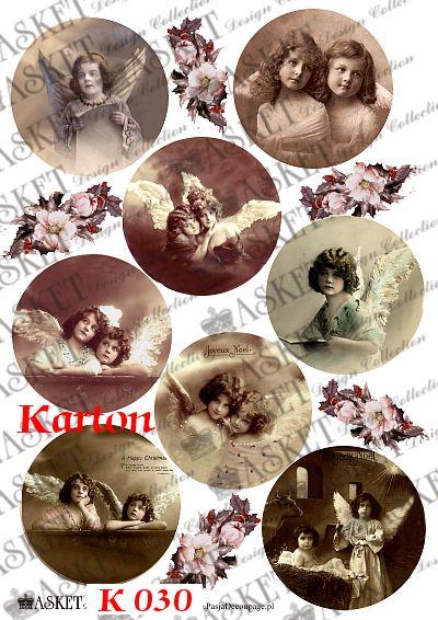 słodkie dziecięce aniołki vintage
