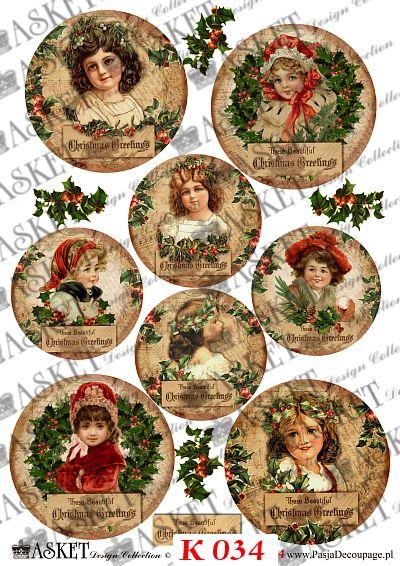 Słodkie dziewczynki świąteczne