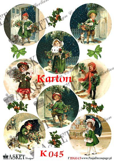 dzieci ze świątecznymi drzewkami