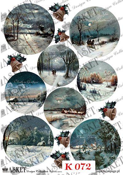 Piękne widoki z chatkami i śniegiem