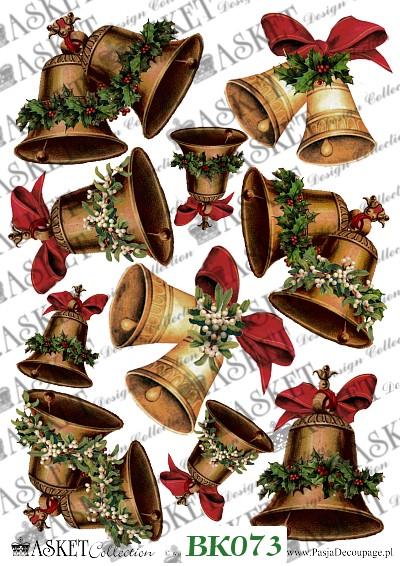duże motywy dzwonów z kokardami