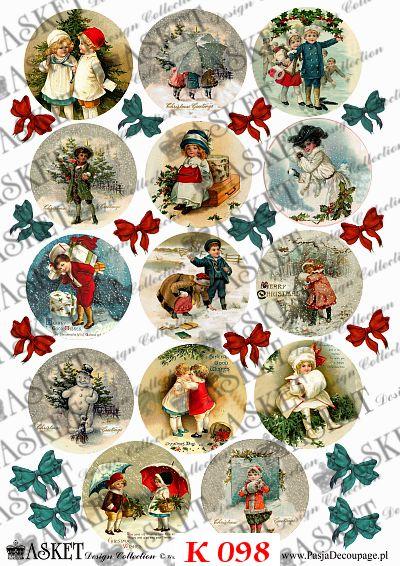 Dzieci w zimowych strojach