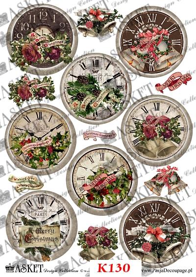 Zegary vintage świąteczne