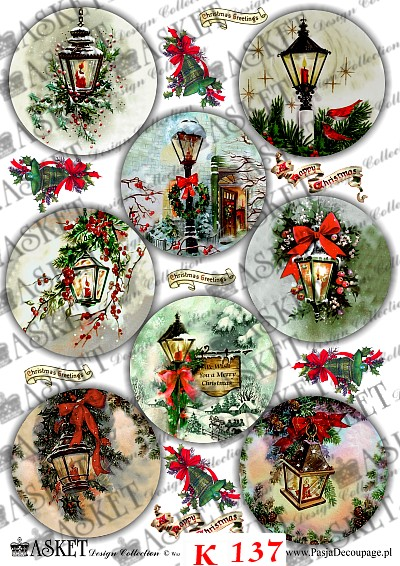 Klimatyczne zimowe latarenki przyozdobione świątecznymi elementami