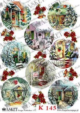 drzwi domostw w Święta Bożego Narodzenia