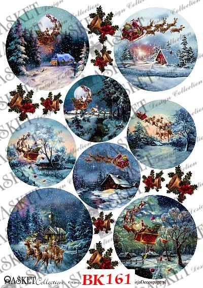 Święty Mikołaj obdarowujący dzieci prezentami