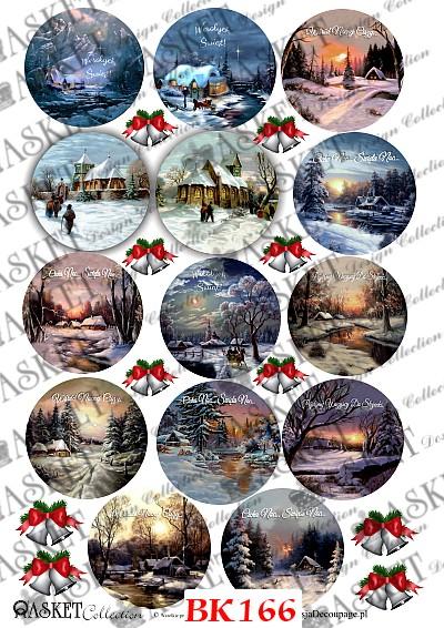 Pejzaże zimowe w klimatycznym świątecznym sylu