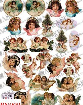 Świąteczne aniołki dekupaż