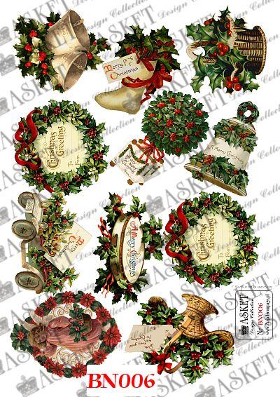 dzwoneczki świąteczne, ostrokrzew