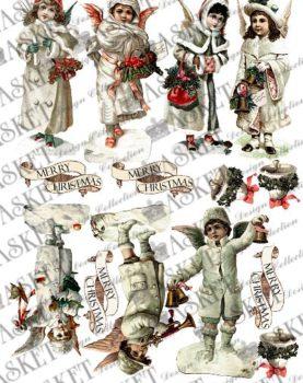 dzieci ze świątecznymi gadżetami
