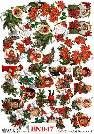 kwiaty świąteczne, dziewczynki