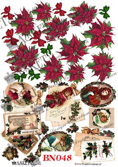 vintage styl, czerwone dziewczynki, świąteczne kwiaty