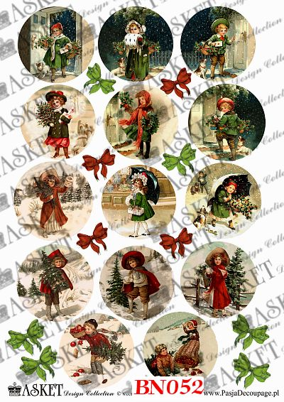 dzieci w Zimę ze świątecznym drzewkiem
