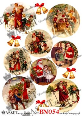 świąteczne obrazki z mikołajem. Radosne dzieci