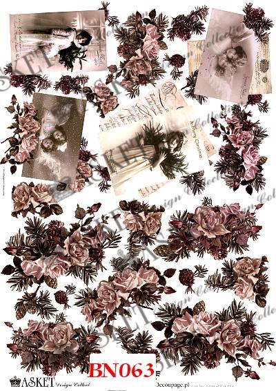 róże w zimowym klimacie, damy vintage i listy