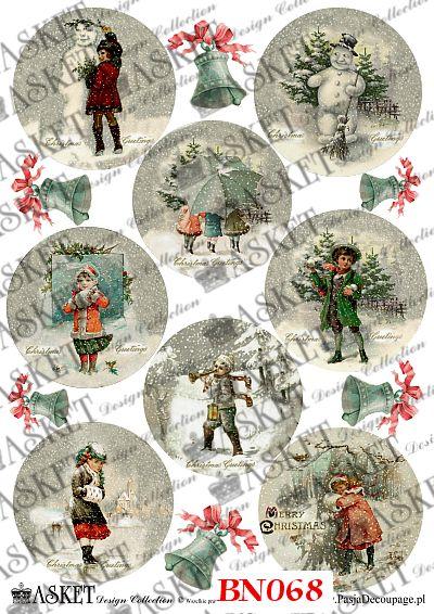 dzieci w śnieżycy lepią bałwana