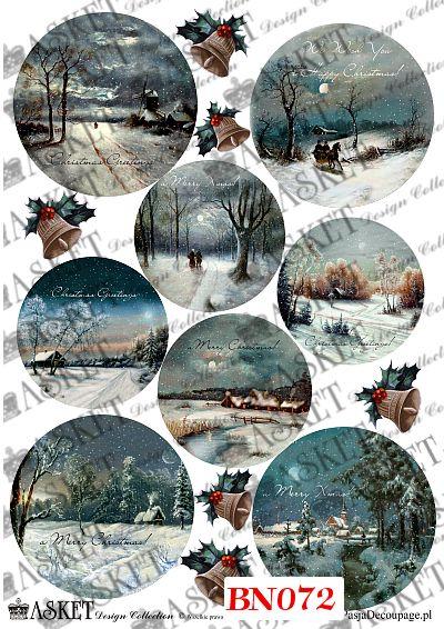 piękne zimowe pejzaże nocą