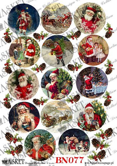 mikolaj w Święta rozdaje prezenty