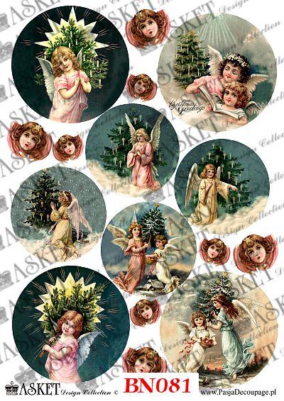 Słodkie Aniołki przy choince