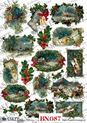 Decoupage Boże Narodzenie Wigilijna Noc