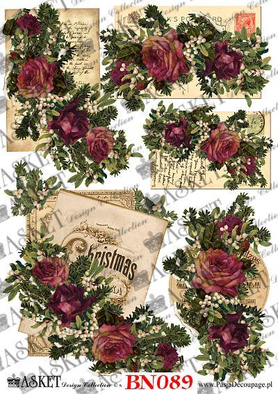 Piękne róże w Klimatycznym świątecznym wydaniu