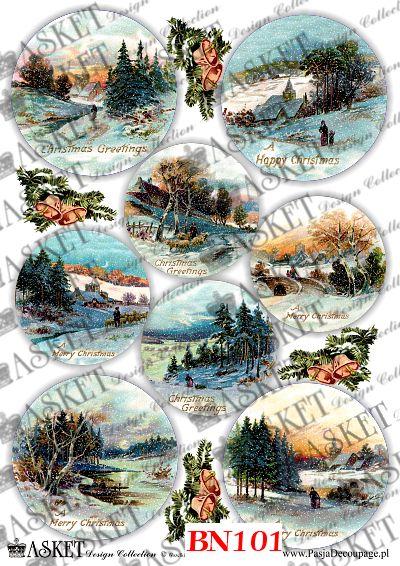 zima w lesie, ośnieżone domki