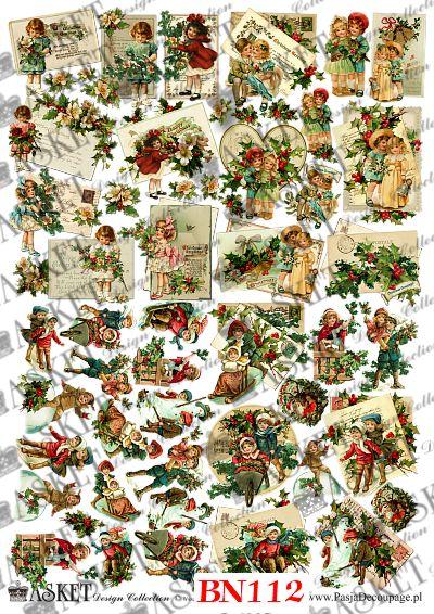 małe elementy papieru do kompozycji dekoracji świątecznych