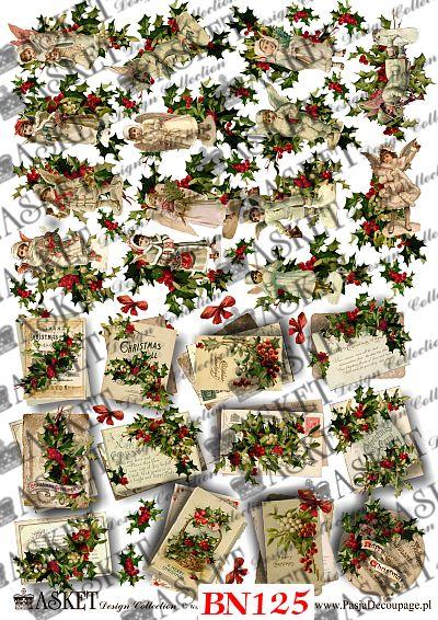 małe motywy do ozdabiania świątecznych przedmiotów