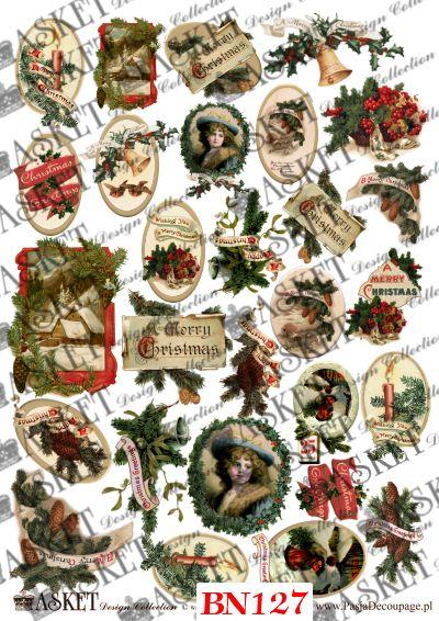 małe świąteczne dekoracje podkreślające charakter każdej Bożonarodzeniowej pracy