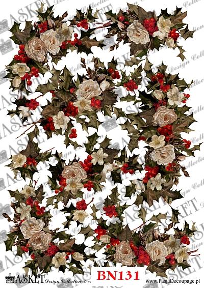 Świateczne kwiaty do dekoracji różnych powierzchni