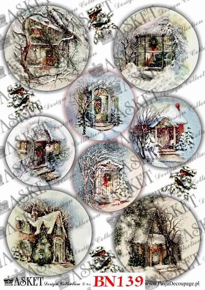bajkowe domki w zimę