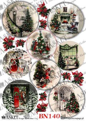wnętrze udekorowanego świątecznie domu