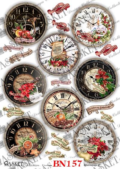 motywy świąteczne zegary do bombek