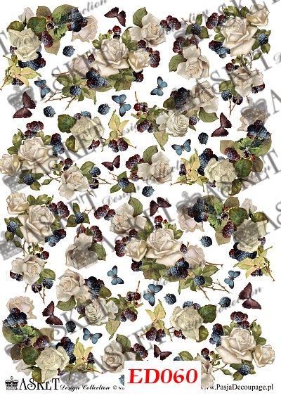małe motywy róż do przyklejania na różnego rodzaju powierzchnie