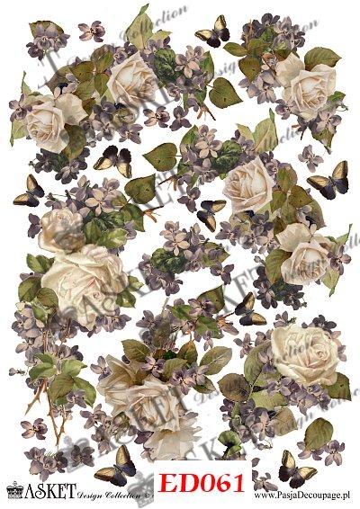 kompozycja kwiatowa z bzu i białych róż