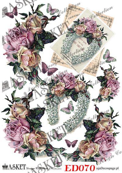 grafiki pastelowych róż